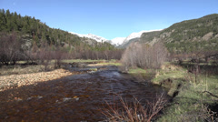 P03622 Cold Clear Mountain Stream in Rocky Mountains Stock Footage