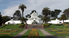 Conservatory of Flowers in Golden Gate Park. San Francisco, California, USA. Stock Footage