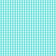 Turquoise White Gingham Check Pattern Background - stock illustration