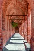 Stock Photo of old arched passage.