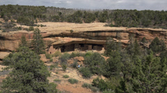 Mesa Verde Spruce Tree House Indian ruins HD 062 Stock Footage
