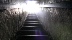 Stairway to heaven, exiting Pyramid, Egypt - stock footage
