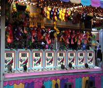 Amusement Game Booth - stock footage