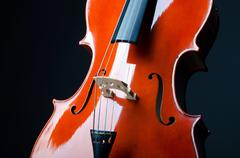 Music concept- close up of cello Kuvituskuvat