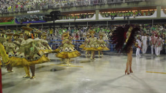 Carnival, carnaval in Rio de Janeiro, Brazil Stock Footage