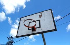 Basket ball hoop Stock Photos