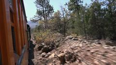 Steam engine railroad mountain landscape Colorado HD 114 Stock Footage