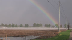 Rainbow after thunderstorm Stock Footage