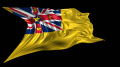 Flag of Niue Stock Footage