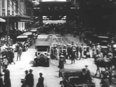 Hustle & Bustle Of Chicago - Circa 1920.mp4 Stock Footage
