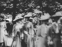 Ladies Fashions - Circa 1900 Stock Footage