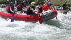 Athletes Rowing Oars Stock Footage