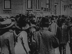 Sidewalks Crowded With People, New York - Circa 1898 Stock Footage