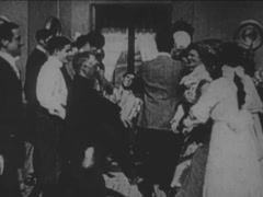 $People Dancing and having Fun At A Party 1910 Style Stock Footage
