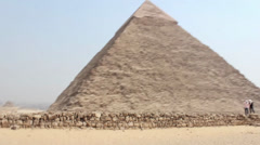 Giza Pyramids Egypt Drive by Handheld Stock Footage