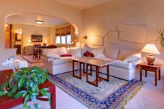 Beautiful light living room design Stock Photos