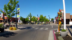 The Boulevard In Downtown Lancaster California Business District Stock Footage
