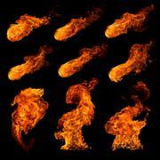 Fire set Stock Illustration