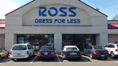 Ross Dress For Less with Logo Stock Footage