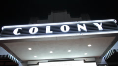 Colony Theater Miami Beach Stock Footage