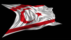 Flag of Northern Cyprus Stock Footage