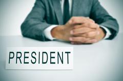 president - stock photo