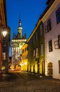Clock tower, landmark of transylvania, sighisoara Stock Photos
