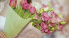 Wedding flowers Stock Footage