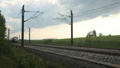 High Speed Train passing close Stock Footage