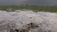 Stock Video Footage of Storm chaser in hail storm