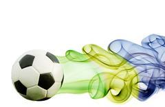 Soccer ball of brazil 2014 Stock Illustration