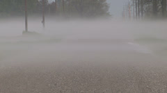 Low lying ground fog after storm Stock Footage