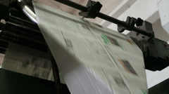 The printed machine does the newspaper Stock Footage