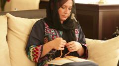 Praying muslim woman 2 Stock Footage