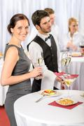 Catering service at company event offer champagne Kuvituskuvat