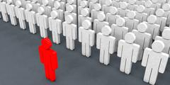Stock Illustration of Standing Out From The Crowd