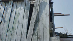 Broken Farm Building - 25FPS PAL Stock Footage