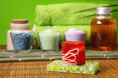 Spa and beauty, aroma and oils - stock photo