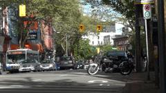 City Life - Street Traffic & Bike - 01 Stock Footage