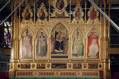 Florence - santa croce, main altar Stock Photos