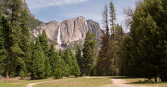 Path going to Horse Tail Fall in Yosemite 4k Stock Footage