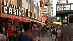 Golden Gate casino on Fremont Street Stock Footage
