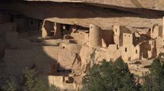 Mesa Verde ancient Pueblo cliff dwelling Colorado zoom HD 101 Stock Footage