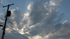 Time lapse of telephone pole and sky Stock Footage