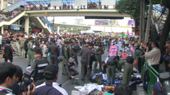 BOMB GRENADE BLAST ATTACK TERRORISM POLITICAL Stock Footage