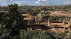 Mesa Verde Colorado Pueblo Indian cliff dwelling forest fire HD 097 Stock Footage