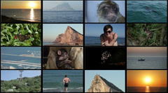 Gibraltar Shots Collage Stock Footage