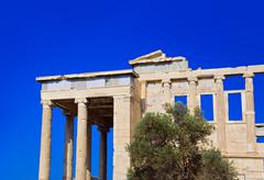 Erechtheum temple in Acropolis at Athens, Greece Stock Photos