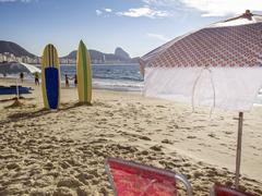 Copacabana Beach, Rio de Janeiro. Stock Photos