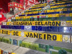 Rio de Janeiro, Stairway : Escadaria Selaron. - stock photo